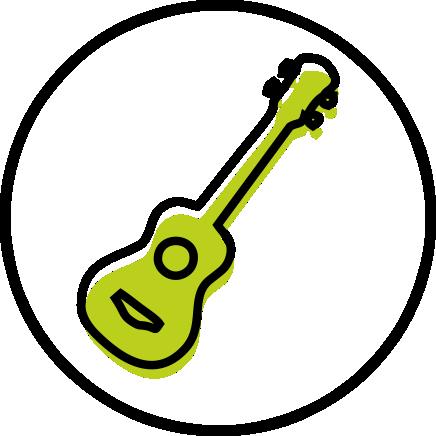 Ukeleles, mandolinas bandurria, laud y otros